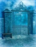 Cimitero gotico Fotografia Stock Libera da Diritti