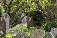 Cimitero Gwithian Cornovaglia Fotografia Stock Libera da Diritti