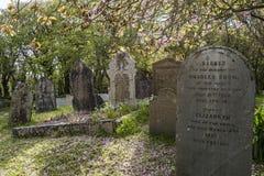 Cimitero Gwithian delle lapidi Immagini Stock Libere da Diritti
