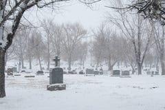 Cimitero invernale Fotografie Stock Libere da Diritti