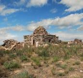 Cimitero islamico nel deserto Ustyurt Fotografia Stock