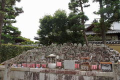 Cimitero - Kyoto - Giappone immagini stock libere da diritti