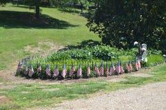Cimitero Lynchburg, VA della città del giardino dello spargimento vecchio fotografia stock libera da diritti