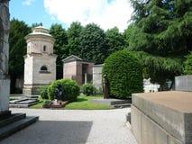 Cimitero Maggiore в милане, Италии Стоковая Фотография