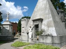Cimitero Maggiore w Mediolan, Włochy Obraz Royalty Free