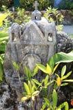 Cimitero messicano nel parco di Xcaret, penisola dell'Yucatan Fotografie Stock Libere da Diritti