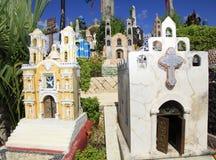 Cimitero messicano nel parco di Xcaret, penisola dell'Yucatan Fotografia Stock Libera da Diritti