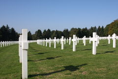 Cimitero militare Fotografie Stock Libere da Diritti