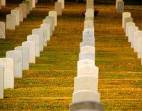 Cimitero militare Immagine Stock Libera da Diritti