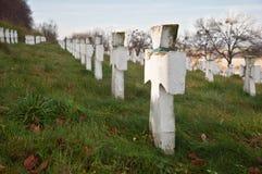 Cimitero militare Fotografia Stock