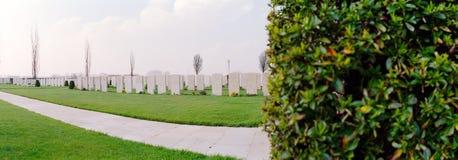 Cimitero militare della prima guerra mondiale Immagine Stock Libera da Diritti