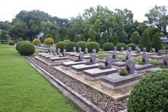 Cimitero militare in Dien Bien Phu Immagine Stock Libera da Diritti
