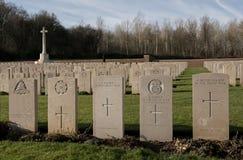 Cimitero militare in Francia (WW1) Immagine Stock Libera da Diritti