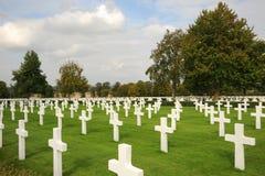 Cimitero militare l'inghilterra Fotografie Stock