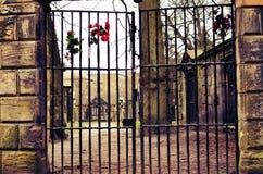 Cimitero misterioso in cui gli eventi paranormali accadono Fotografia Stock Libera da Diritti