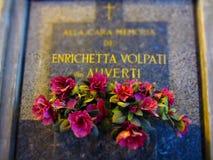 Cimitero Monumentale Mailand Stockbild