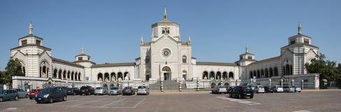 Cimitero Monumentale Mailand Panoramaabbildung lizenzfreie stockfotografie