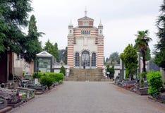 Cimitero Monumentale mausoleum Arkivbilder