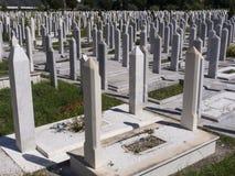 Cimitero musulmano fotografie stock libere da diritti