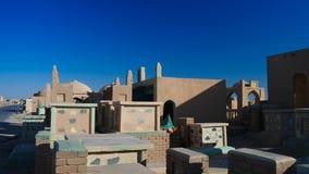 Cimitero musulmano di Wadi-noi-salaam di Un-Najaf aka, più grande nel mondo Irak immagini stock libere da diritti