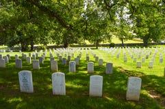 Cimitero nazionale dei soldati Immagine Stock