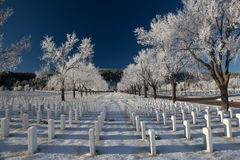 Cimitero nazionale di Black Hills Fotografie Stock
