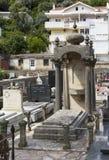 Cimitero nella bella città di Castelnuovo Immagine Stock