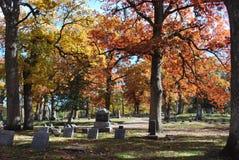 Cimitero nella caduta Immagine Stock
