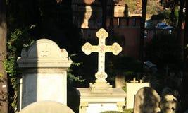 Cimitero protestante a Roma Immagini Stock