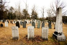 Cimitero rurale Fotografie Stock Libere da Diritti