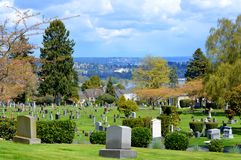 Cimitero Seattle Washington di Lakeview Immagine Stock Libera da Diritti