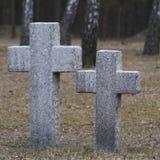 Cimitero senza fine in Polonia Fotografia Stock