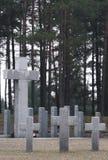 Cimitero senza fine in Polonia Fotografie Stock Libere da Diritti