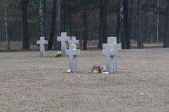 Cimitero senza fine in Polonia Fotografia Stock Libera da Diritti