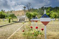 Cimitero serbo - prime guerra mondiale e guerre dei Balcani Immagini Stock