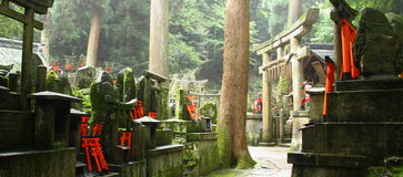 Cimitero shintoista giapponese Fotografia Stock Libera da Diritti
