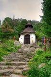 Cimitero simbolico sotto Ostrva in alte montagne di Tatra, Slovacchia Fotografie Stock Libere da Diritti