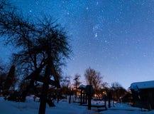 Cimitero sotto le stelle Immagini Stock