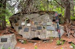 Cimitero sotto Ostrva in alte montagne di Tatra, Immagini Stock