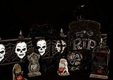 Cimitero spaventoso di Halloween Immagini Stock Libere da Diritti