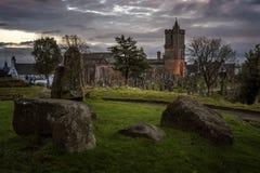 Cimitero spettrale del castello Immagine Stock