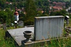 Cimitero su una collina Fotografia Stock