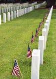 Cimitero sul Giorno dei Caduti Immagine Stock