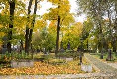 Cimitero tedesco luterano antico Fotografie Stock
