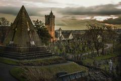 Cimitero terrificante del castello Immagine Stock