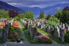 Cimitero in Thun switzerland Immagine Stock