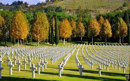 Cimitero in Toscana, Italia   Fotografia Stock