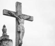Cimitero trasversale concreto Immagine Stock