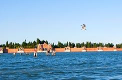 Cimitero a Venezia Immagini Stock Libere da Diritti