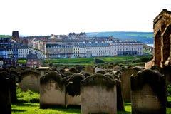 Cimitero in Whitby Fotografie Stock